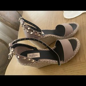 Authentic Valentino studded espadrille wedge!